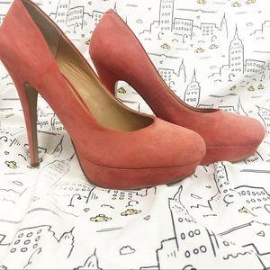 KELSI DAGGER Pink Suede Heels Size 9